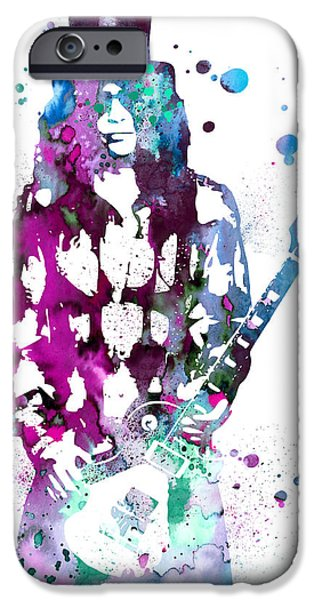 Portrait Poster iPhone Cases - Slash  iPhone Case by Luke and Slavi