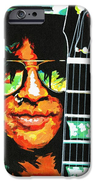 Slash Paintings iPhone Cases - Slash iPhone Case by Tanya Filichkin