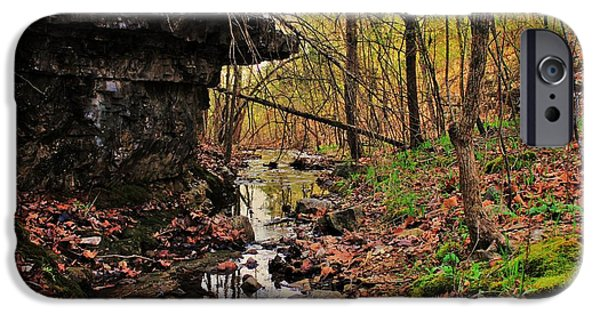 Arkansas Photographs iPhone Cases - Slate Bottom Creek iPhone Case by Benjamin Yeager