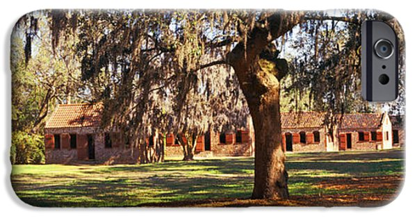 Slaves Photographs iPhone Cases - Slave Quarters, Boone Hall Plantation iPhone Case by Panoramic Images