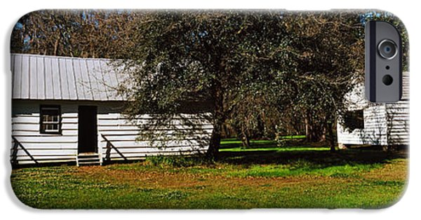 Slaves Photographs iPhone Cases - Slave Quarters, Magnolia Plantation And iPhone Case by Panoramic Images