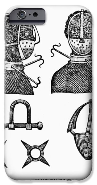 SLAVE RESTRAINTS  1807 iPhone Case by Daniel Hagerman