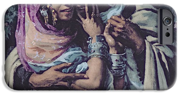 Slaves iPhone Cases - Slave to Love iPhone Case by Alphonse Etienne Dinet