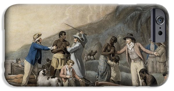 Discrimination iPhone Cases - Slave Trade, Engraved By John Raphael Smith, 1791 Mezzotint iPhone Case by George Morland