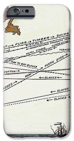 SLAVE TRADE MAP, 17th C iPhone Case by Granger