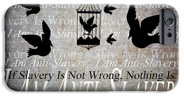 Free Mixed Media iPhone Cases - Slavery iPhone Case by Angelina Vick