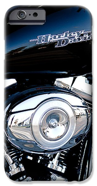 Monotone iPhone Cases - Sleek Black Harley iPhone Case by David Patterson