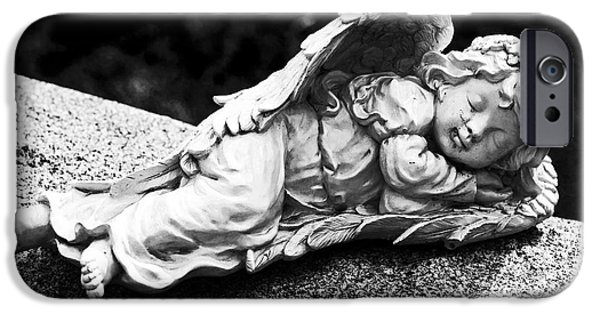 Sleeping Places iPhone Cases - Sleeping Angel iPhone Case by John Rizzuto