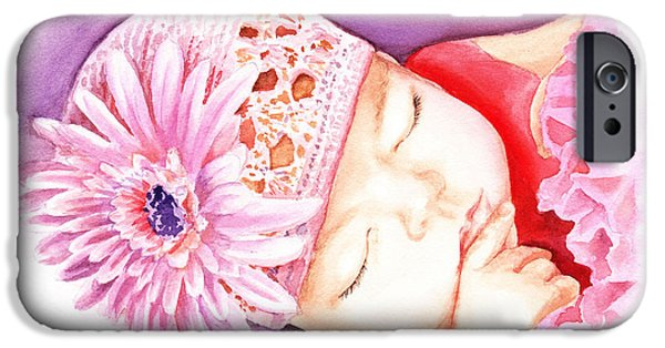 Small iPhone Cases - Sleeping Baby iPhone Case by Irina Sztukowski