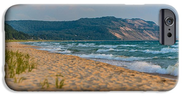 Yellow Photographs iPhone Cases - Sleeping Bear Dunes at Sunset iPhone Case by Sebastian Musial