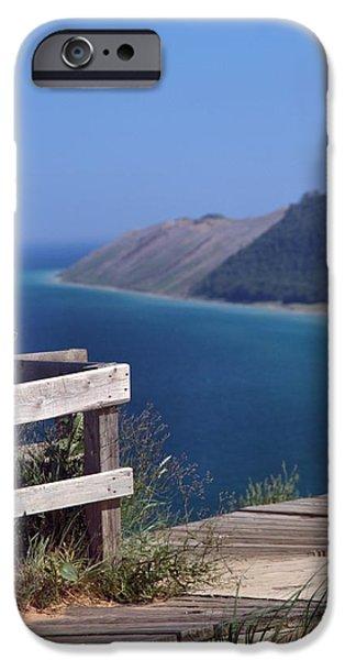 Village iPhone Cases - Sleeping Bear Dunes Boardwalk iPhone Case by Dan Sproul