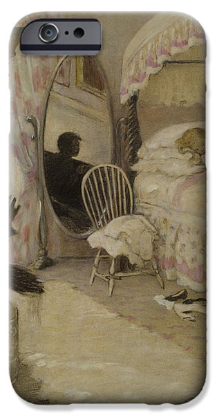Innocence iPhone Cases - Sleeping Beauty circa 1916 iPhone Case by Aged Pixel