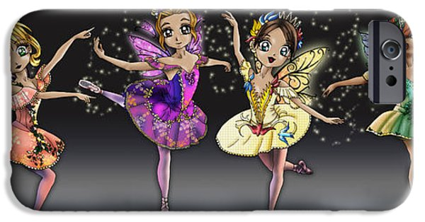Ballet Dancers iPhone Cases - Sleeping Beauty Fairies iPhone Case by Alicia Matheson