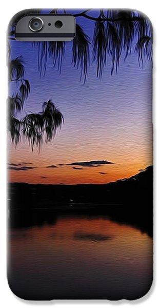Sleeping Sun iPhone Case by Kaye Menner