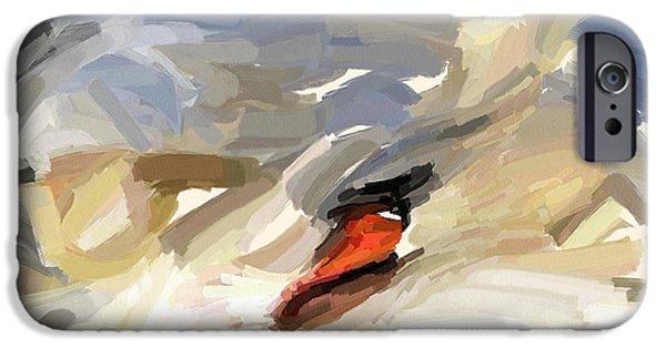 House Pet Digital Art iPhone Cases - Sleeping Swan iPhone Case by Yury Malkov