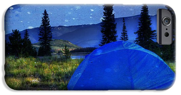 Reservoir iPhone Cases - Sleeping Under the Stars iPhone Case by Juli Scalzi