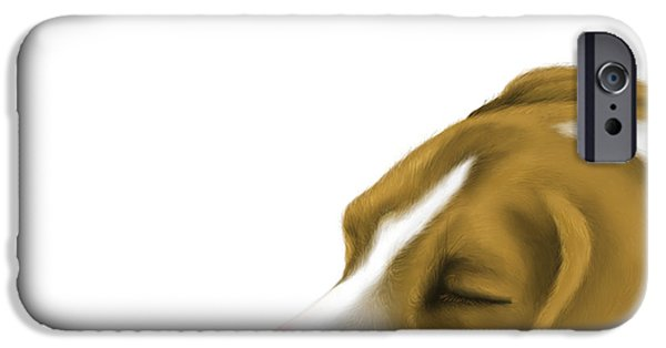 Dogs Digital iPhone Cases - Sleeping iPhone Case by Veronica Minozzi