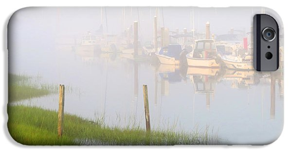 East Dennis Ma iPhone Cases - Sleepy Harbor iPhone Case by Dianne Cowen