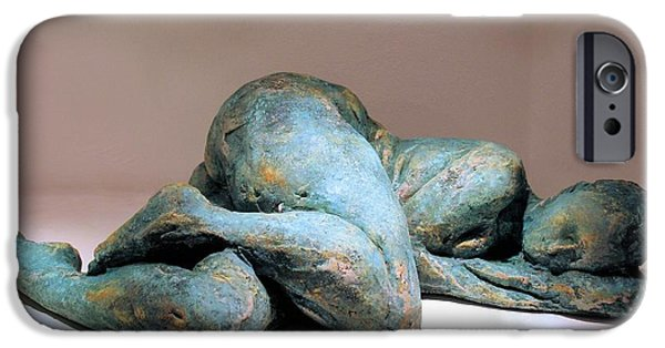 Nudes Sculptures iPhone Cases - Sleepy - I iPhone Case by Flow Fitzgerald