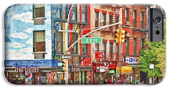 East Village iPhone Cases - Slice of LIfe NYC East Village iPhone Case by Regina Geoghan