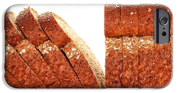 Bread iPhone Cases - Sliced Bread iPhone Case by Olivier Le Queinec
