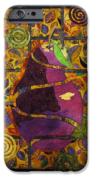 Nature Abstract Tapestries - Textiles iPhone Cases - Sliced Pear iPhone Case by Lynda K Boardman