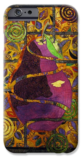 Pears Tapestries - Textiles iPhone Cases - Sliced Pear iPhone Case by Lynda K Boardman