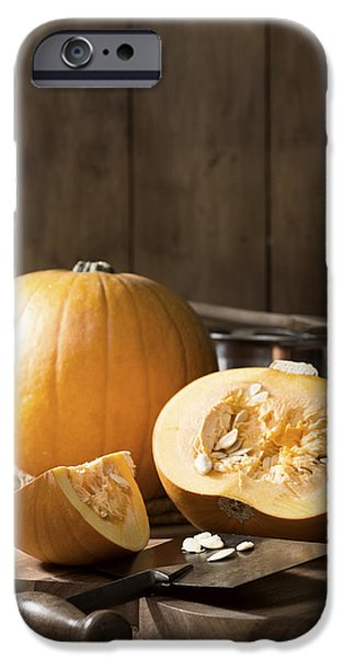 Gourd iPhone Cases - Slicing Pumpkins iPhone Case by Amanda And Christopher Elwell