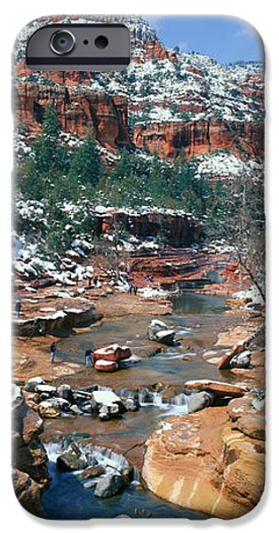 Wintertime iPhone Cases - Slide Rock Creek In Wintertime, Sedona iPhone Case by Panoramic Images