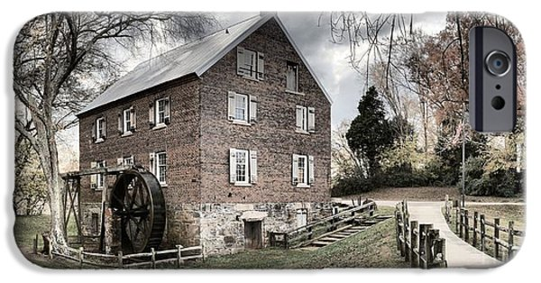 Grist Mill iPhone Cases - Sloan Park Walkway To The Past iPhone Case by Adam Jewell