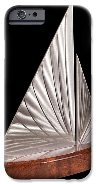 Boat Sculptures iPhone Cases - Sloop II iPhone Case by Rick Roth