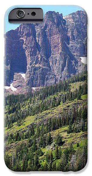 Sloping Mountain at Two Medicine Lake iPhone Case by Carol Groenen