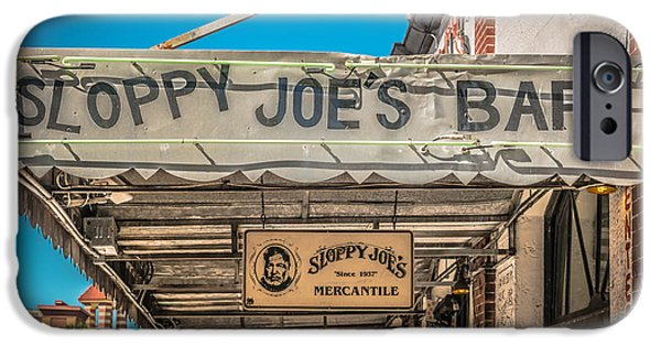 Liberal iPhone Cases - Sloppy Joes Bar Canopy Key West - HDR Style iPhone Case by Ian Monk