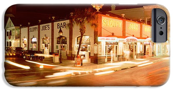 Board iPhone Cases - Sloppy Joes Bar, Duval Street, Key iPhone Case by Panoramic Images