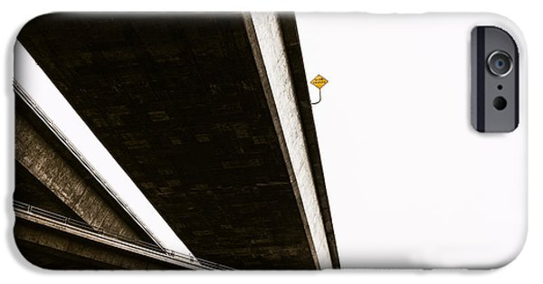Traffic Sign iPhone Cases - Slow Trucks iPhone Case by Joseph Smith