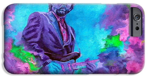 Fender Strat Paintings iPhone Cases - Slowhand iPhone Case by Kathleen Kelly Thompson