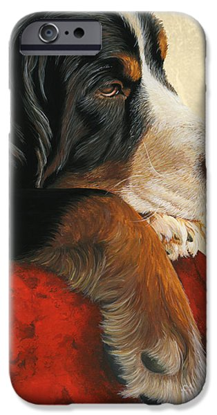 Painted Paintings iPhone Cases - Slumber iPhone Case by Liane Weyers
