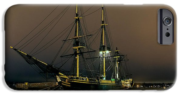 Pirate Ship iPhone Cases - Slumbering Schooner iPhone Case by William Jobes