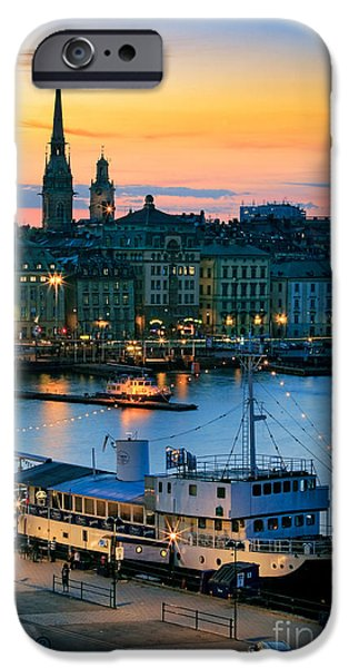 Facade iPhone Cases - Slussen By Night iPhone Case by Inge Johnsson