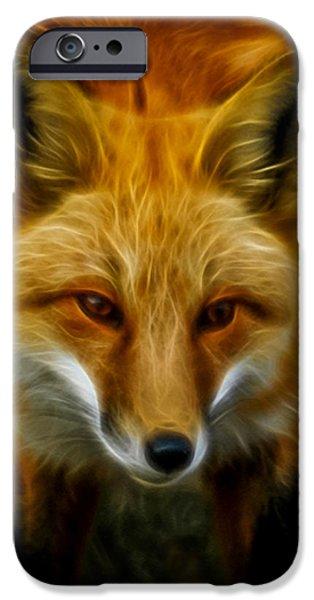 Fox Digital iPhone Cases - Sly Fox iPhone Case by Ernie Echols