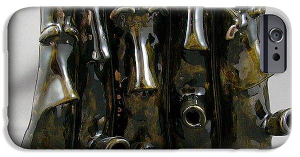 Object Ceramics iPhone Cases - Small Chorus iPhone Case by Mario Perron
