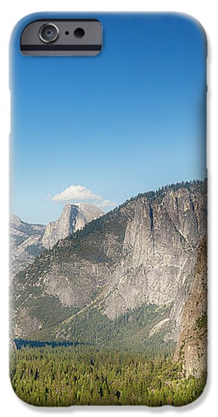 Small clouds over the Half Dome iPhone Case by Jane Rix
