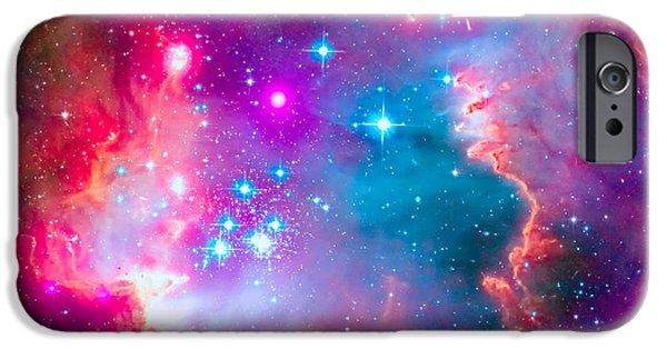Stellar iPhone Cases - Small Magellanic Cloud - SMC Galaxy iPhone Case by Ram Vasudev
