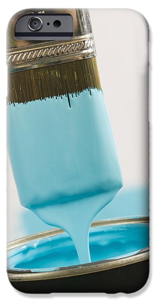 Diy iPhone Cases - Small Paint Brush Dipped In Paint iPhone Case by Lucidio