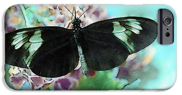 Small iPhone Cases - Small Postman Butterfly iPhone Case by Marianna Mills