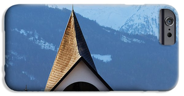 Snowy Day iPhone Cases - Small shrine in the mountains iPhone Case by Michal Bednarek