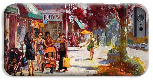 Talking iPhone Cases - Small Talk in Elmwood Ave iPhone Case by Ylli Haruni