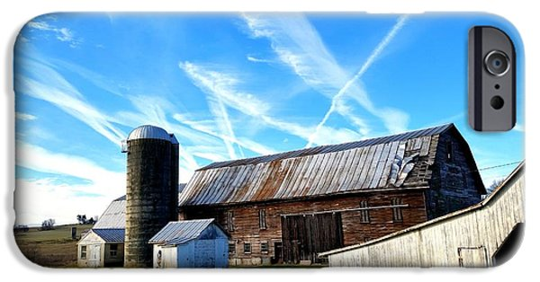 Maryland Barn Photographs iPhone Cases - Small Town America iPhone Case by Karen Rhodes
