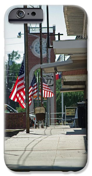 American Flag iPhone Cases - Small Town America iPhone Case by Robyn Stacey