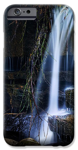 Water Flowing iPhone Cases - Small Waterfall iPhone Case by Tom Mc Nemar